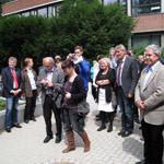 Stefan Politze bei der Eröffnung der neuen Mensa in der Gebrüder-Körting-Schule
