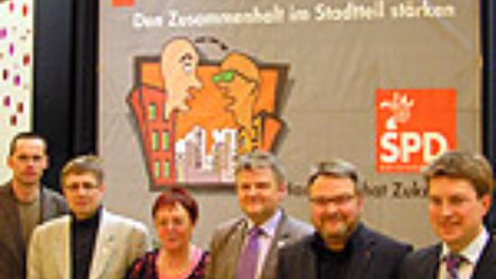 Stefan Politze beim ersten Stadtbezirksforum Buchholz-Kleefeld