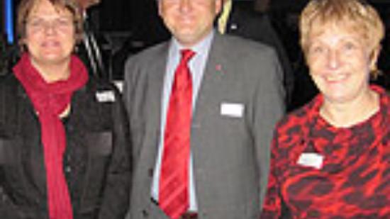 v.l.: Dr. Silke Lesemann, Stefan Politze und Sigrid Leuschner